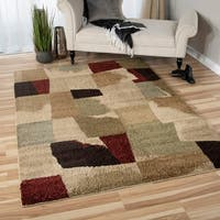 "Carolina Weavers Grand Comfort Collection Fort Moultrie Multi Shag Area Rug - 7'10"" x 10'10"""