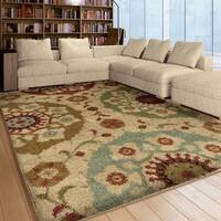 "Carolina Weavers Grand Comfort Collection Solar Patches Gray Shag Area Rug (7'10 x 10'10) - 7'1"" x 1'1"""