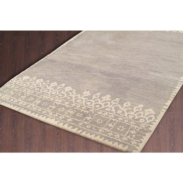 Shop ABC Accent Modern Desa Gray Wool Area Rug