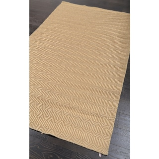 "ABC Accent Casual Natural Fiber Gold Jute Rug (5""x8"")"