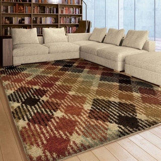 Carolina Weavers Dignified Shag Collection Solitaire Multi Area Rug (7'10 x 10'10)