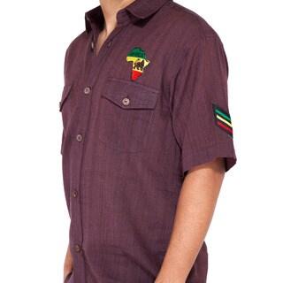 African Lion Rasta Classic Summer Button Top (Nepal)