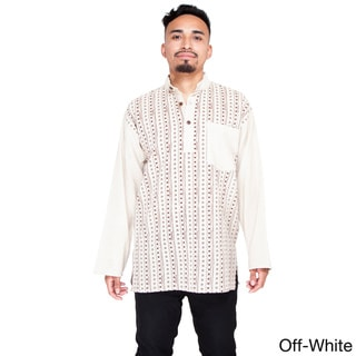 Men's Om Stripe Zenley Long Sleeve Shirt