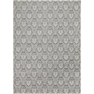 "ABC Accent Contemporary Gray Wool Silk Rug (4""x6"")"