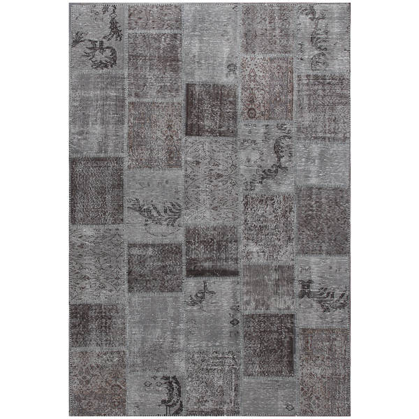 "ABC Accent Vintage Turkish Overdyed Patchwork Atmosphere  Rug( 6""x7'8"")"