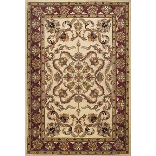 """ABC Accent Beautiful Traditional Beige Wool Area Rug (3'11""""x6"""")"""