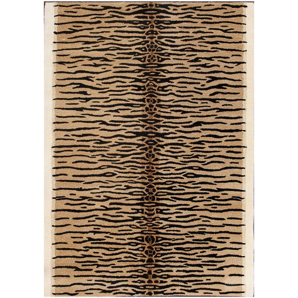 Shop ABC Accent Gold Tiger Wool Area Rug