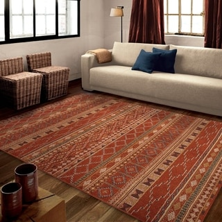 "Carolina Weavers Celebration Collection Desert Trail Red Area Rug (7'10 x 10'10) - 7'10"" x 10'10"""