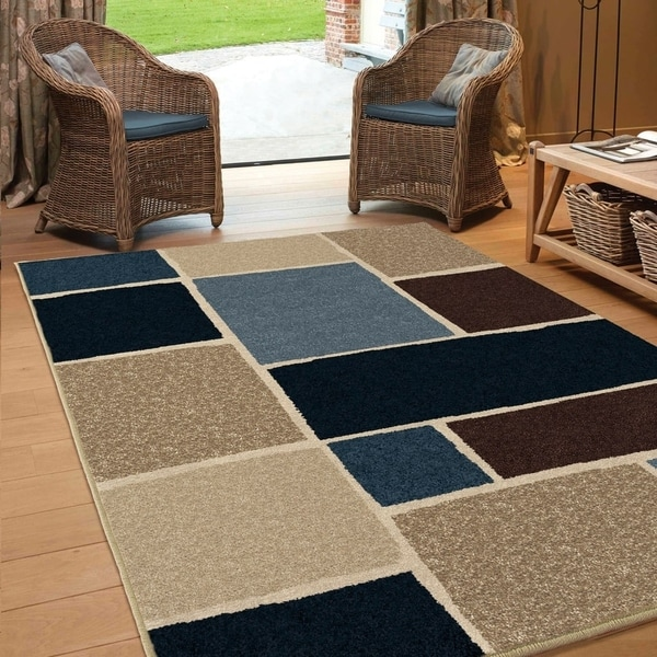 Carolina Weavers Bermuda Collection Boxview Multi Area Rug (7'8 x 10'10) - 7'8 x 10'10