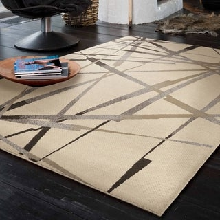 Carolina Weavers Urbane Collection Firebolt Ivory Area Rug (7'10 x 10'10)