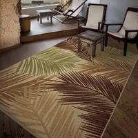 """Carolina Weavers Bermuda Collection Palmbreeze Multi Area Rug (7'8 x 10'10) - 7'8"""" x 10'10"""""""
