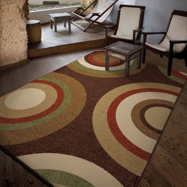 """Carolina Weavers Bermuda Collection Curled Rochelle Brown Area Rug - 7'8"""" x 10'10"""""""