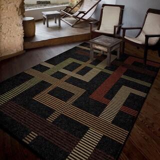 Carolina Weavers Bermuda Collection Hamilton Black Area Rug (7'8 x 10'10)
