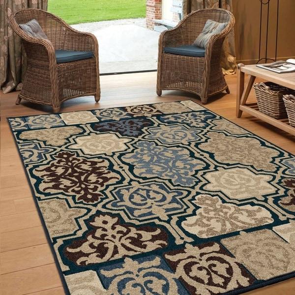 Havenside Home Midland Ornate Multi Area Rug - 7'8 x 10'10