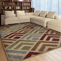 "Carolina Weavers Riveting Shag Collection Cardita Multi Shag Area Rug (7'10 x 10'10) - 7'10"" x 10'10"""