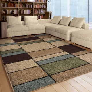 "Carolina Weavers Plush Squares Seaton Multi Area Rug (7'10"" x 10'10"")"