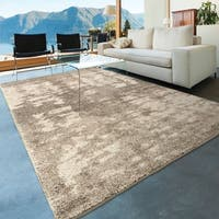 Carolina Weavers Grand Comfort Collection Wolken Haze Gray Shag Area Rug (5'3 x 7'6)