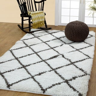 Soft and Cozy Trellis Shag Area Rugs by Affinity Home (8 'x 10')