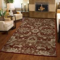Carolina Weavers Ornate Expressions Collection Walton Red Area Rug (6'7 x 9'8)