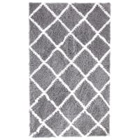 Soft and Cozy Trellis Shag Area Rugs by Affinity Home (5 'x 8')