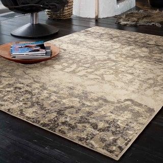 Carolina Weavers Urbane Collection Iron Bridge Ivory Area Rug (7'10 x 10'10)