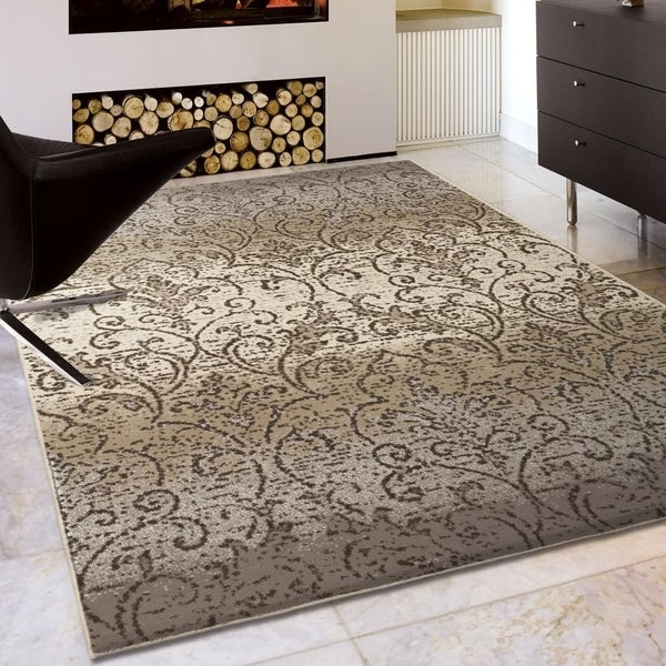 Silver Orchid Reinwald Gray Area Rug - 7'10 x 10'10
