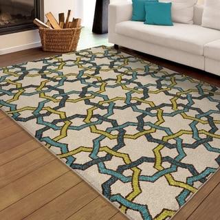 Carolina Weavers Indoor/Outdoor Santa Barbara Collection Quillen Multi Area Rug (5'2 x 7'6)