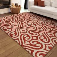Clay Alder Home Casco Indoor/Outdoor Elloree Red Area Rug - 5'2 x 7'6