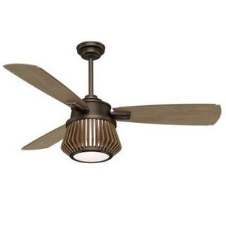 Casablanca Fan Glen Arbor 56-inch Metallic Chocolate with 3 Weathered Timber Blades - Brown