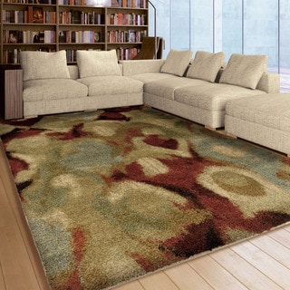 Carolina Weavers Grand Comfort Collection Brumo Fade Multi Shag Area Rug (5'3 x 7'6)