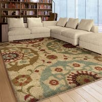 Carolina Weavers Grand Comfort Collection Solar Patches Multi Shag Area Rug (5'3 x 7'6)