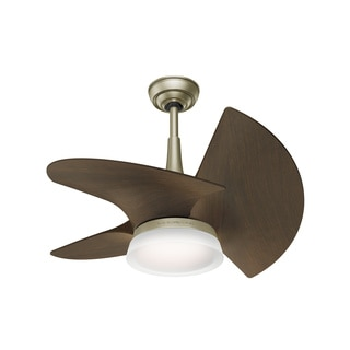 Casablanca Fan Orchid 30-inch 3-blade Pewter Revival with Walnut Blades