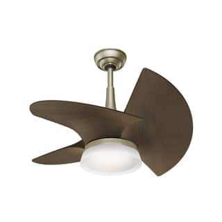 Casablanca ceiling fans for less overstock casablanca fan orchid 30 inch 3 blade pewter revival with walnut blades aloadofball Images