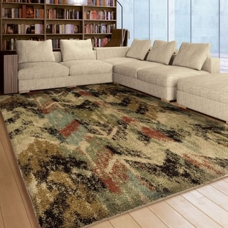 Carolina Weavers Grand Comfort Collection Twisted Sisters Multi Shag Area Rug (5'3 x 7'6)