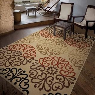 Carolina Weavers Bermuda Collection Woodbridge Multi Area Rug (5'2 x 7'6)