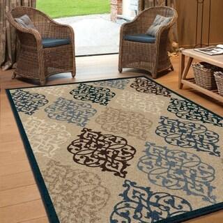 Carolina Weavers Bermuda Collection Amherst Multi Area Rug (5'2 x 7'6)