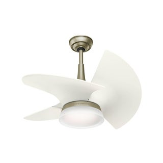 """Casablanca Fan Orchid 30"""" Pewter Revival w/3 Architectural White Blades"""