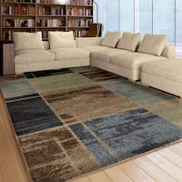 Carolina Weavers Dignified Shag Collection Fleet Blue Shag Area Rug (5'3 x 7'6)