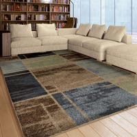 Carson Carrington Nurmijarvi Blue Shag Area Rug - 5'3 x 7'6
