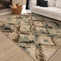 Carolina Weavers Brilliance Collection Called Beige Area Rug (5'3 x 7'6)