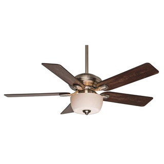Casablanca Fan Utopian 52-inch Brushed Nickle with 5 Walnut/ Burnt Walnut Reversible Blades