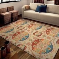 Carolina Weavers Brighton Collection Hayden Beige Area Rug (5'3 x 7'6)