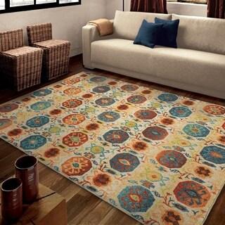 Carolina Weavers Brighton Collection Sahara Multi Area Rug (5'3 x 7'6)