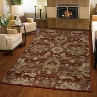 Carolina Weavers Ornate Expressions Collection Walton Red Area Rug - 5'3 x 7'6