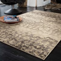 Carolina Weavers Urbane Collection Iron Bridge Ivory Area Rug (5'3 x 7'6)