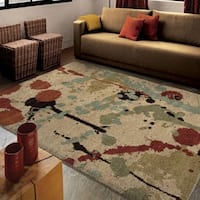 Carolina Weavers Dignified Shag Collection Sprinkles Multi Shag Area Rug (5'3 x 7'6)