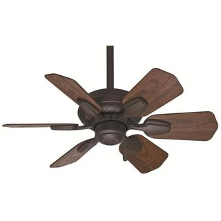 Casablanca Wailea 31-inch Brushed Cocoa Damp Listed Fan with 6 Dark Walnut Blades - Brown