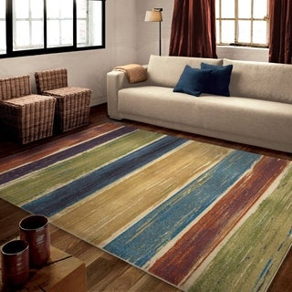 "Carolina Weavers Artistic Abstract Sunset Multi Area Rug (5'3"" x 7'6"")"