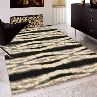 Carolina Weavers Serenity Collection Maison Ivory Area Rug (5'3 x 7'6)