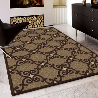 Carolina Weavers Finesse Collection Archway Brown Area Rug (5'3 x 7'6)